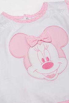 Completino t-shirt e pantaloncini, Bianco/Rosa, hi-res