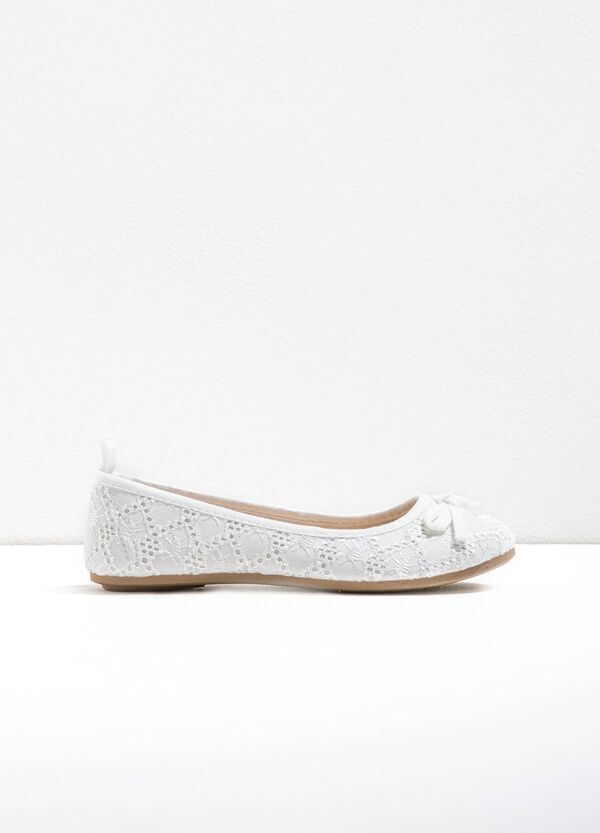 Lace ballerina flats with bow | OVS