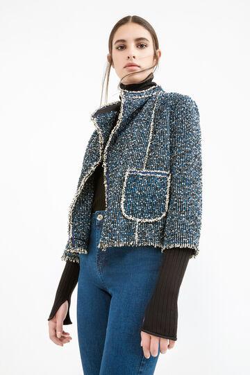 Open blazer with pockets, Black/White, hi-res