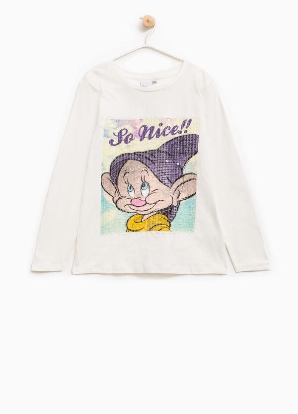 T-shirt I Sette Nani con paillettes | OVS