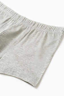 Five-pack solid colour cotton boxer shorts, Grey Marl, hi-res
