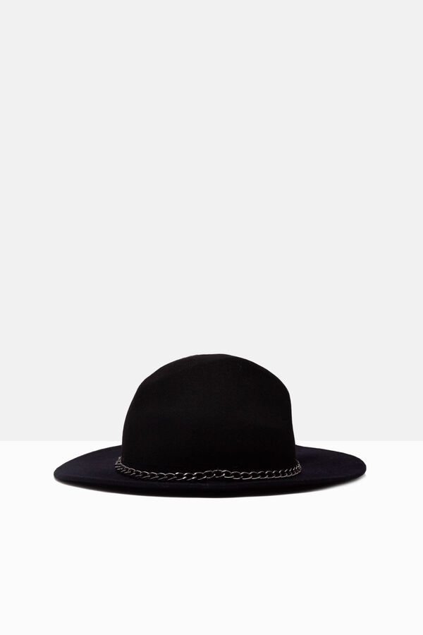 Wide-brimmed hat with chain design | OVS