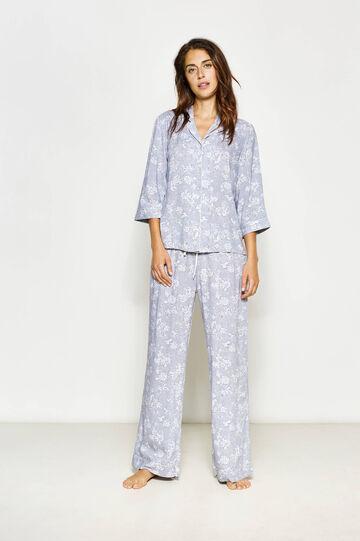 V-neck floral pyjamas