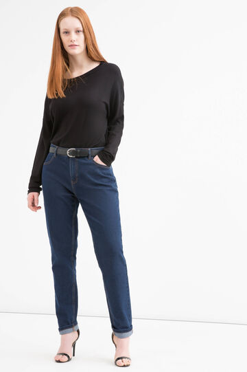Jeans stretch Curvy, Blu denim, hi-res