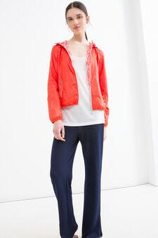 Hooded windbreaker, Orange, hi-res