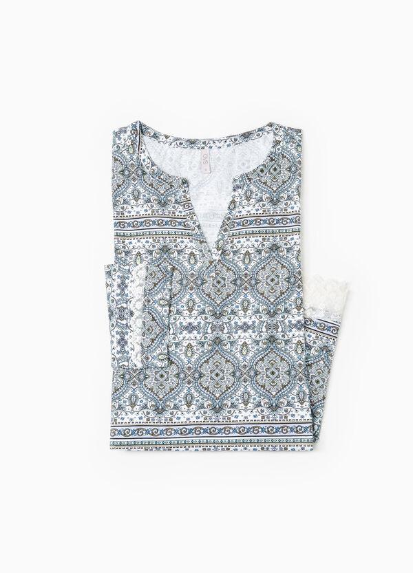 Printed cotton nightshirt | OVS