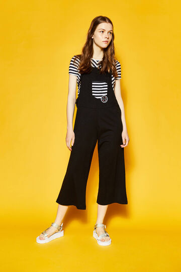 Dungarees with striped pocket by Maui and Sons