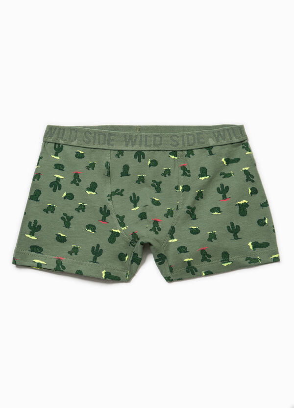 Biocotton boxer shorts with cactus print | OVS