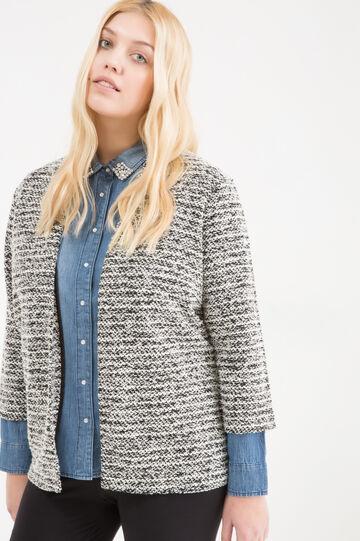 Curvy cotton blend cardigan