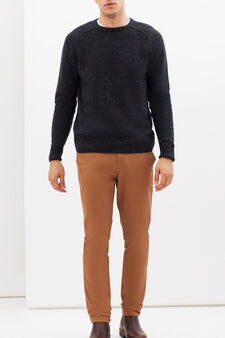 Slim fit stretch Chinos, Tobacco Brown, hi-res