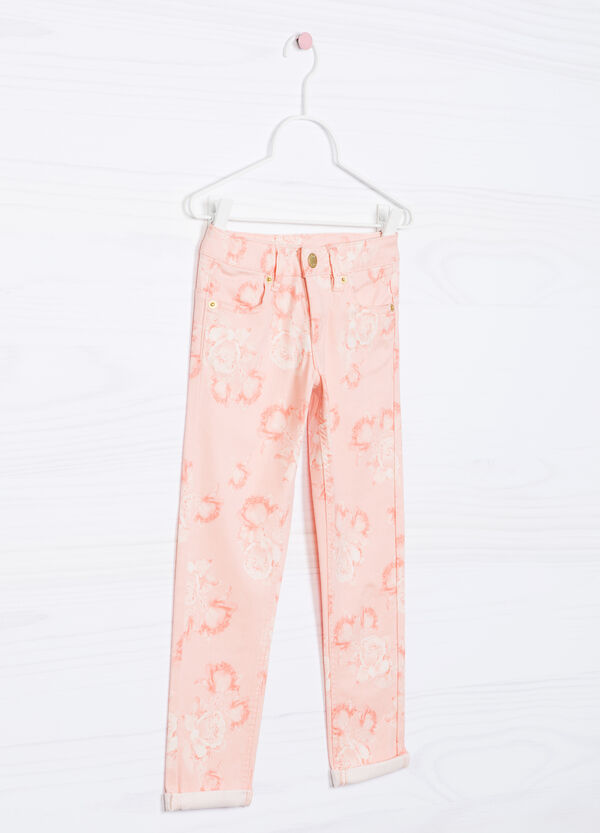 Pantaloni in cotone stretch fantasia | OVS