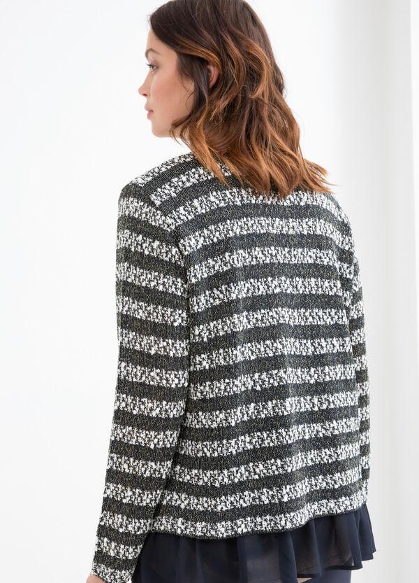 Curvy cotton blend lurex cardigan | OVS