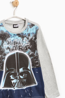 T-shirt con maxi stampa Star Wars, Grigio melange, hi-res