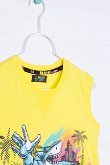 100% cotton vest top by Maui and Sons, Yellow, hi-res