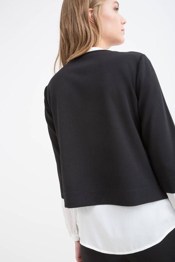 Stretch openwork small jacket | OVS