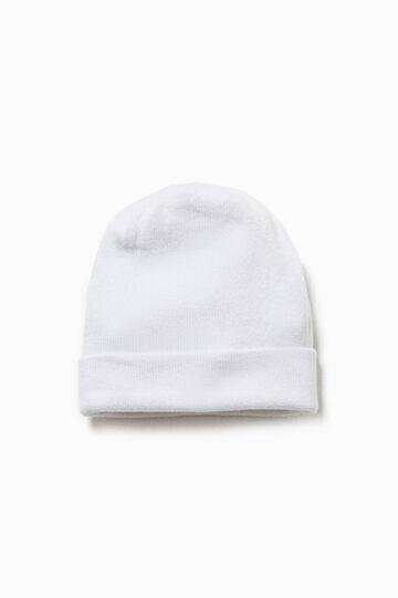 Cappello a cuffia tinta unita, Bianco, hi-res