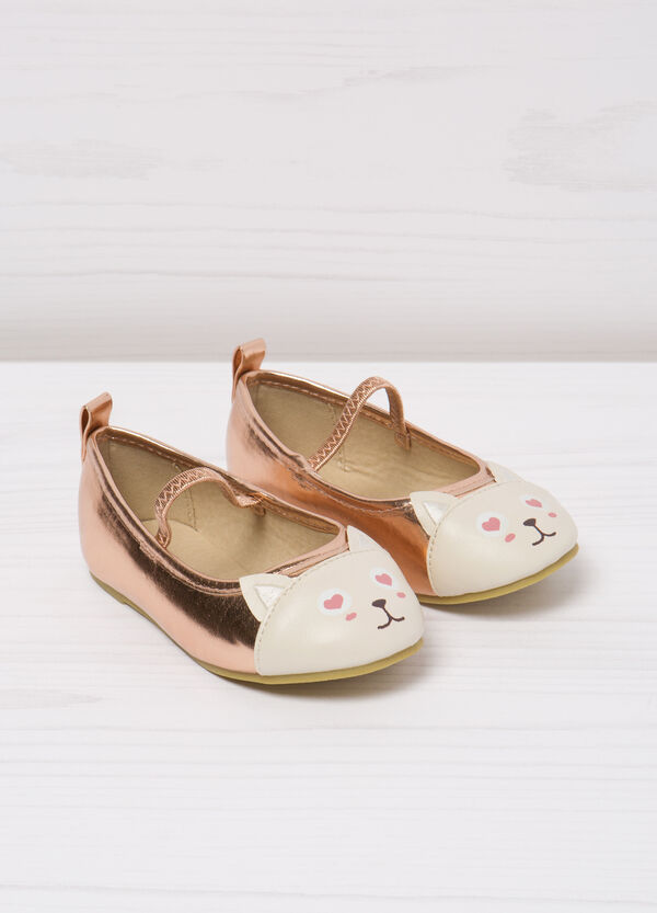 Ballerina flats with cat patch toe | OVS