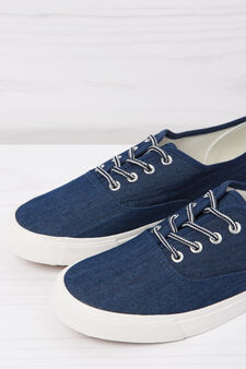 Sneakers basse effetto denim, Denim, hi-res