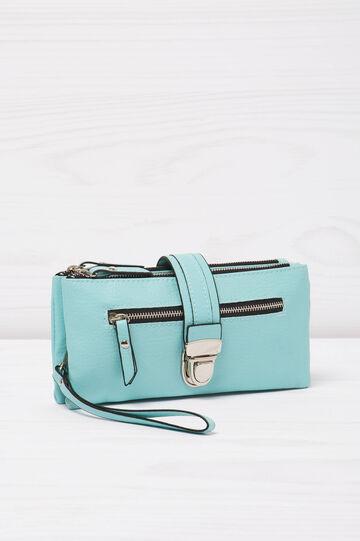 Solid colour wallet, Aqua Blue, hi-res
