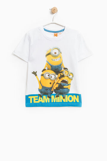 Minions print cotton T-shirt, Optical White, hi-res