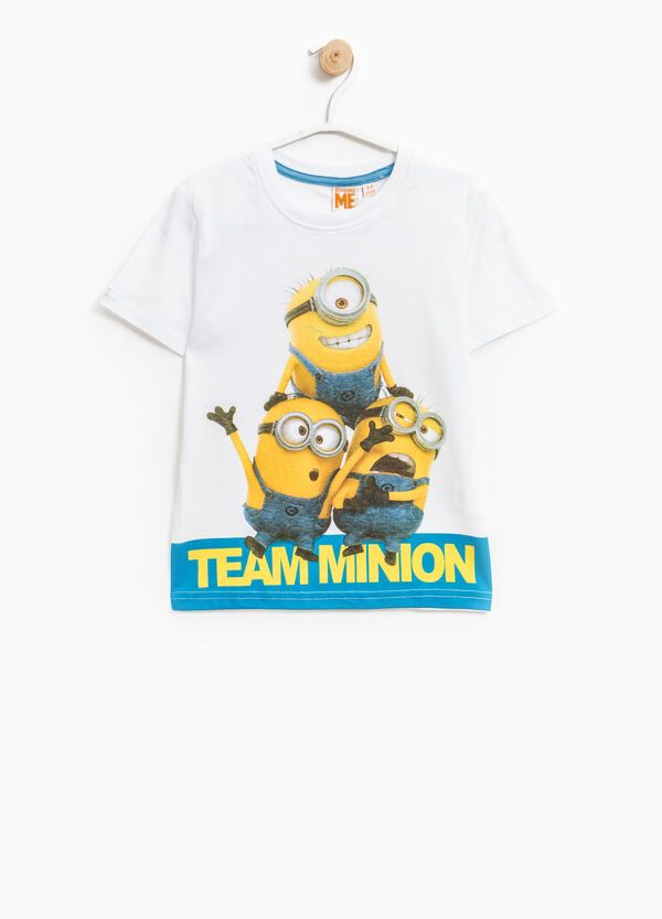 Minions print cotton T-shirt | OVS