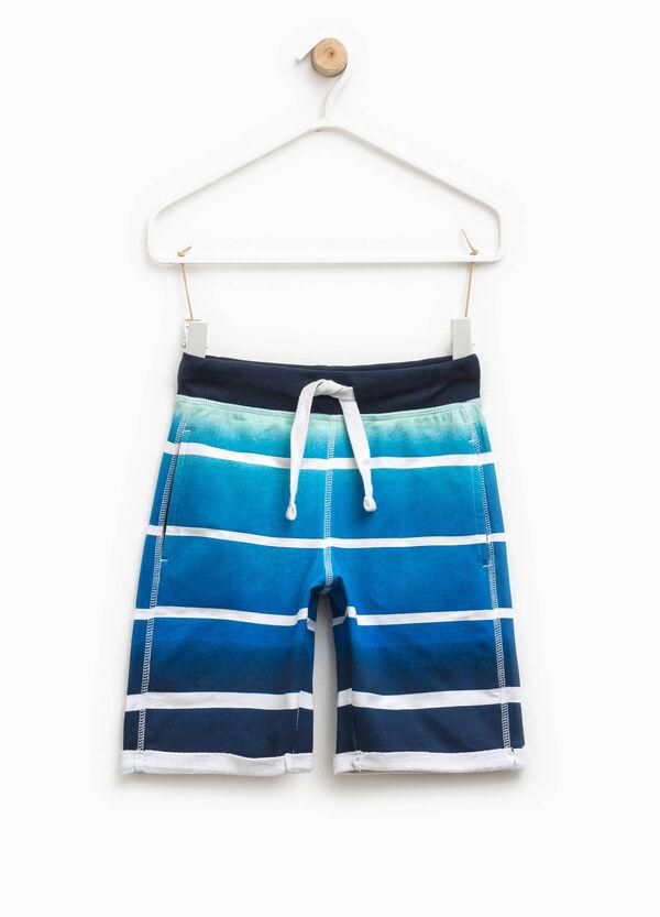 Striped Bermuda shorts in cotton   OVS