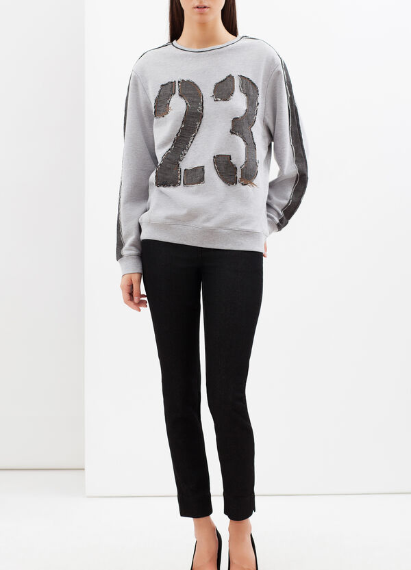 Sweatshirt with applied patches | OVS