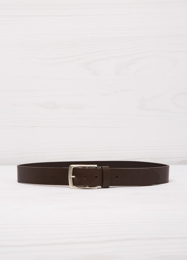 Leather belt with single loop | OVS