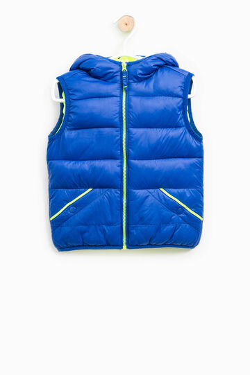 Padded waistcoat with hood, Cornflower Blue, hi-res