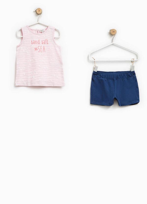 Completo top e shorts con glitter | OVS