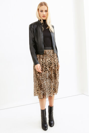 Animal print pleated skirt, Multicolour, hi-res