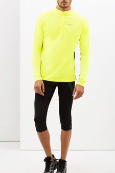 Sweatshirt with zip, Neon Yellow, hi-res