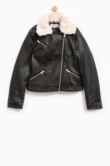 Fur jacket, Black, hi-res