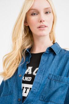 Denim jumpsuit with pockets, Denim Blue, hi-res