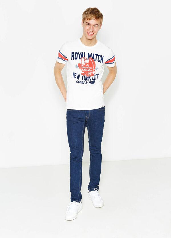 Camiseta en algodón 100% con estampado G&H   OVS