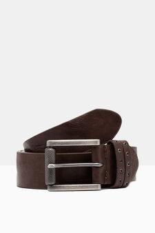 Belt with double loop, Dark Brown, hi-res