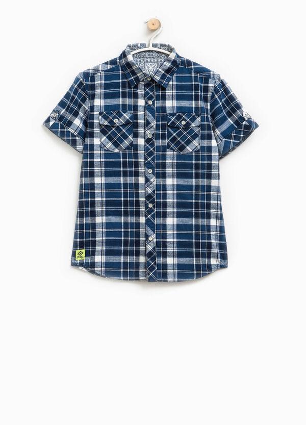 Camicia tartan con maniche corte | OVS