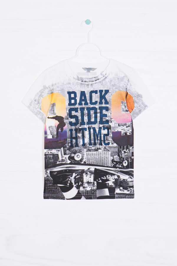 T-shirt puro cotone stampa all-over | OVS