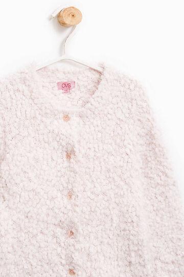 Cardigan tricot tinta unita, Rosa chiaro, hi-res