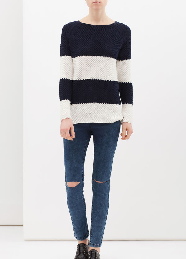 Chunky cotton blend pullover | OVS