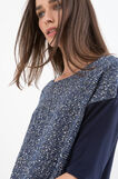 T-shirt with sequins, Blue, hi-res