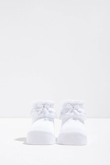 Cotton shoes with bow