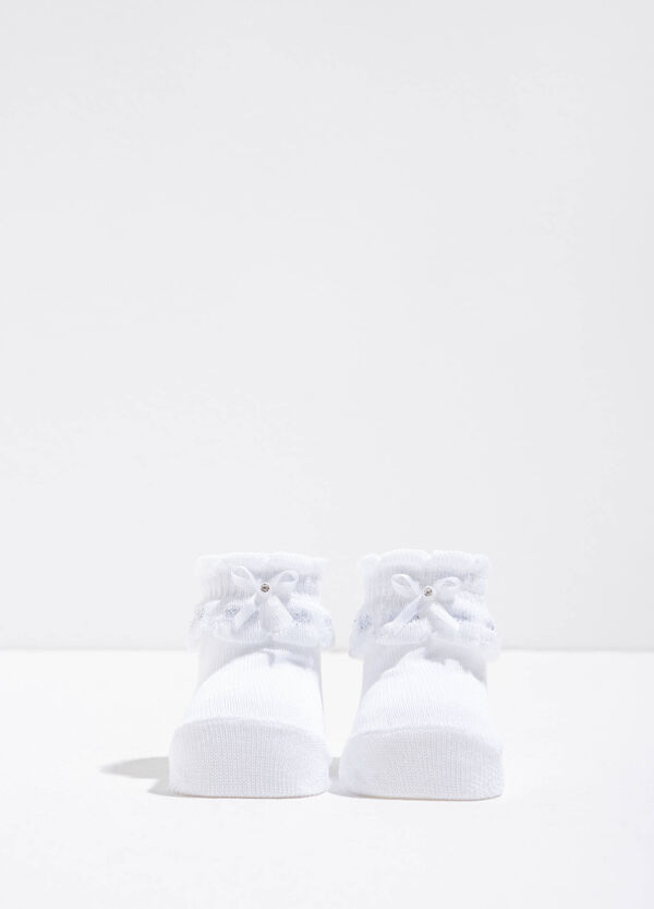Cotton shoes with bow | OVS