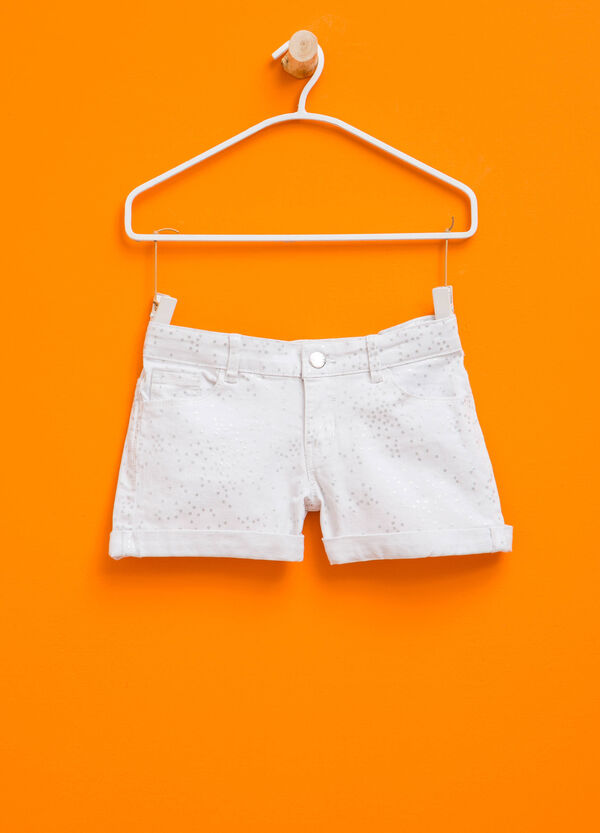 Glitter stars patterned shorts | OVS