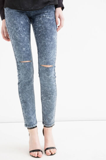 Ripped, skinny fit jeans, Blue, hi-res