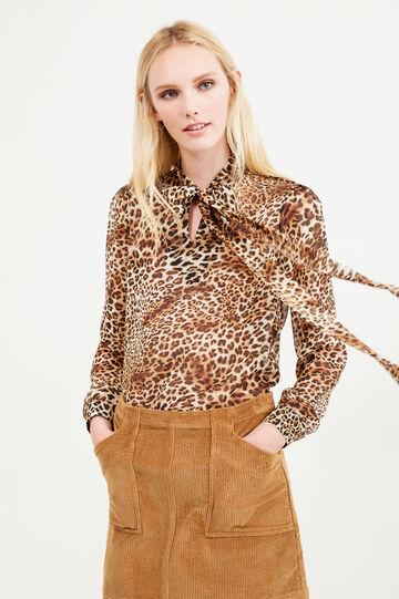 High waist corduroy skirt, Camel, hi-res