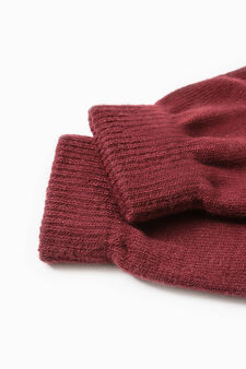 Fingerless gloves, Red, hi-res