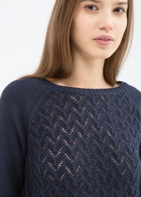 Plain openwork pullover. | OVS