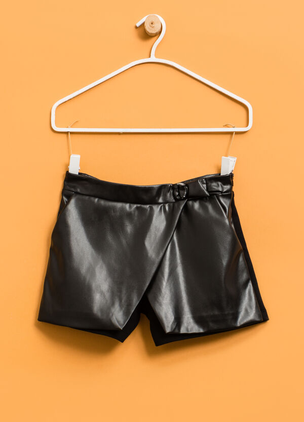 Shorts with faux belt | OVS