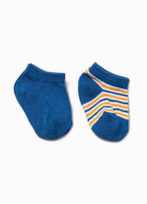 Two-pair pack of socks with striped pattern | OVS